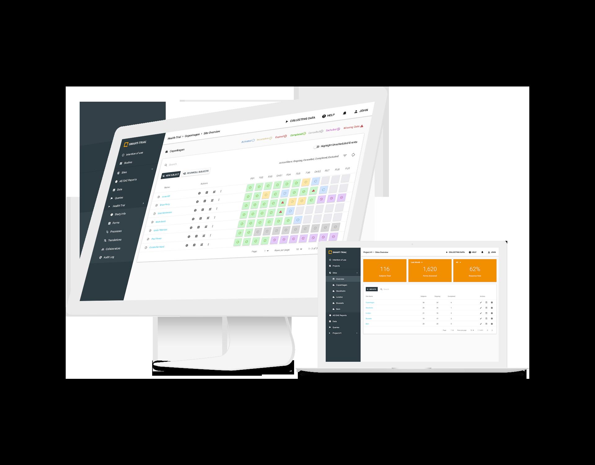 SMART-TRIAL Platform Mockup